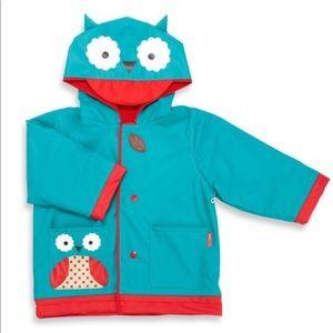 Skip Hop Owl Raincoat Blue Red Jacket